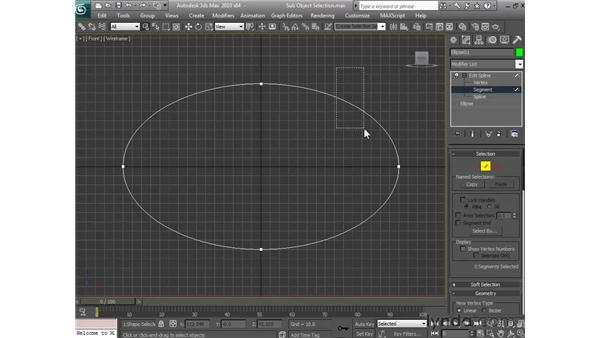 Selecting sub-objects: 3ds Max 2010 Essential Training