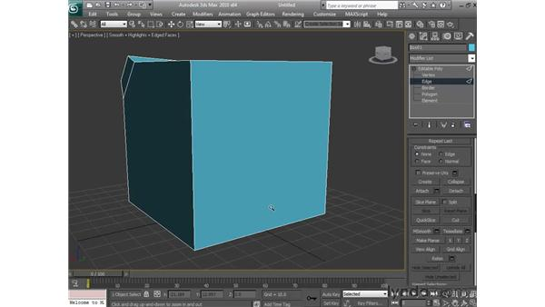 Using 3D sub-object modeling commands: 3ds Max 2010 Essential Training