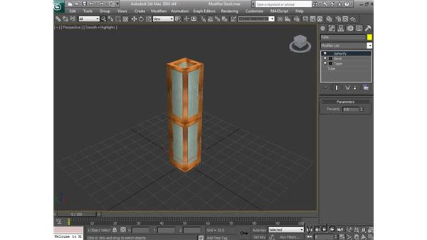 Understanding the modifier stack: 3ds Max 2010 Essential Training