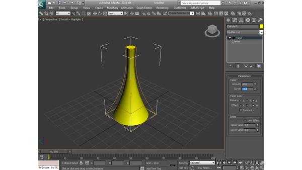 Working with the modifier stack: 3ds Max 2010 Essential Training