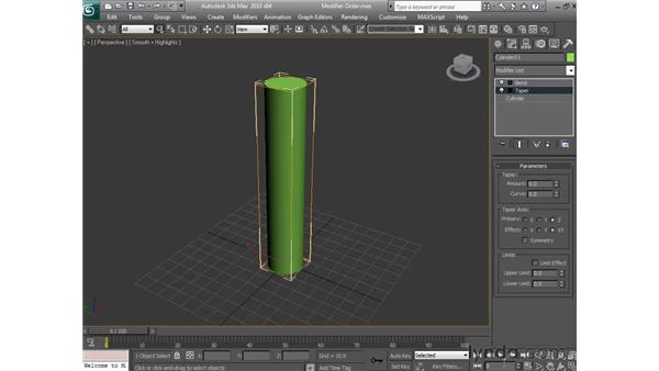 Understanding modifier order: 3ds Max 2010 Essential Training