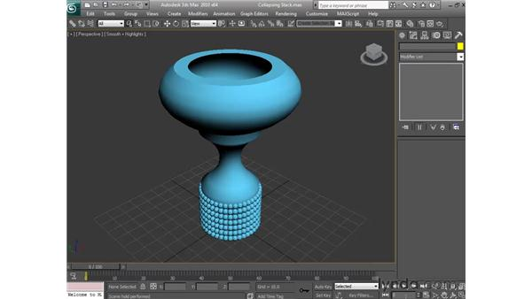 Collapsing the stack: 3ds Max 2010 Essential Training