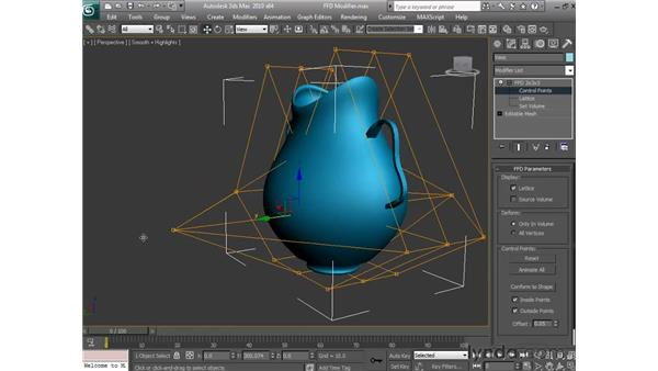 Using freeform deformation modifiers: 3ds Max 2010 Essential Training