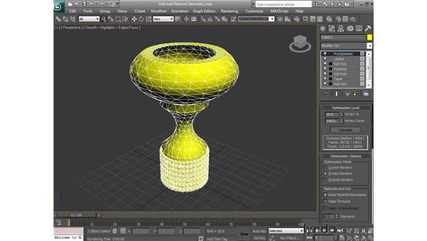 Using modifiers that reduce geometry: 3ds Max 2010 Essential Training