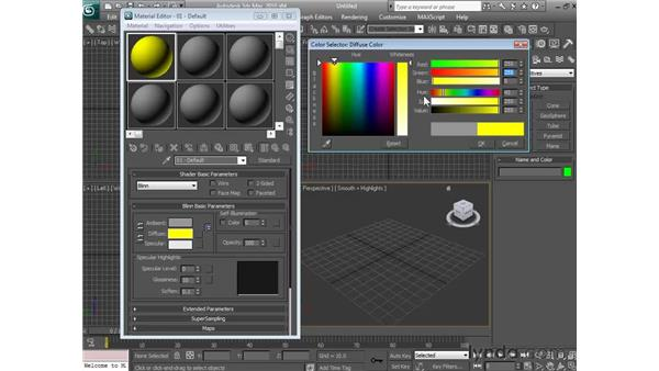 Controlling the main body color: 3ds Max 2010 Essential Training