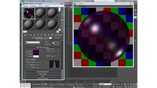Controlling transparency: 3ds Max 2010 Essential Training