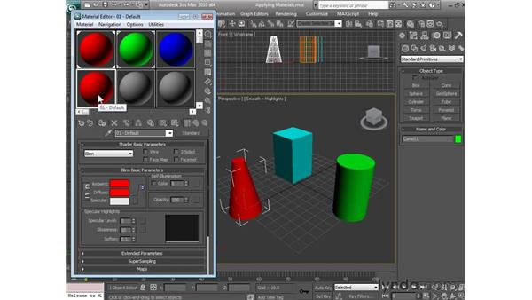 Applying materials: 3ds Max 2010 Essential Training