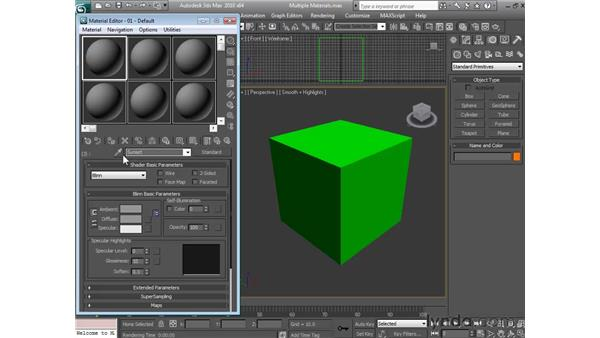 Building a multi sub-object material: 3ds Max 2010 Essential Training