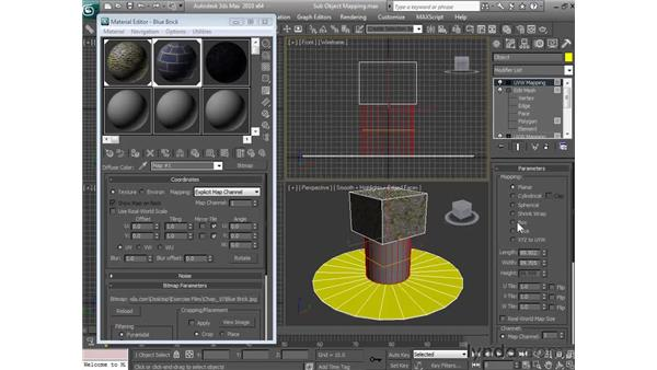 Using sub-object mapping: 3ds Max 2010 Essential Training