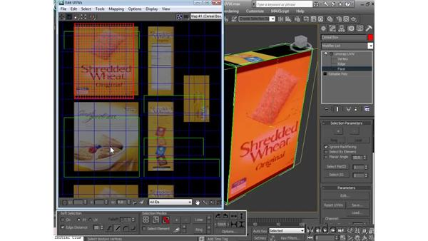Using the UVW unwrap modifier: 3ds Max 2010 Essential Training