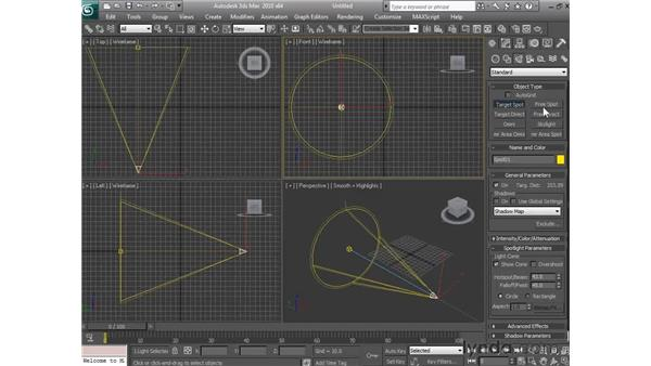 Identifying the types of lights in 3ds Max : 3ds Max 2010 Essential Training