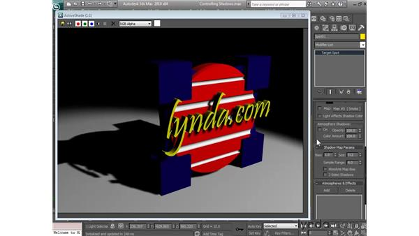 Controlling shadows: 3ds Max 2010 Essential Training
