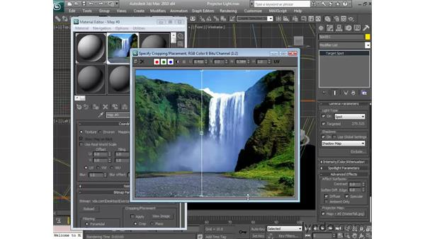 Using projector lights: 3ds Max 2010 Essential Training
