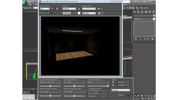 Setting global illumination: 3ds Max 2010 Essential Training