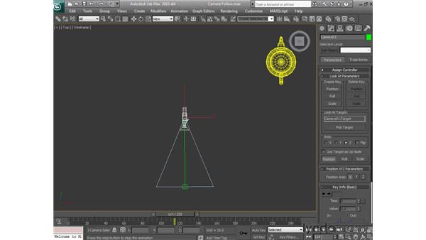 Locking a camera onto an object: 3ds Max 2010 Essential Training
