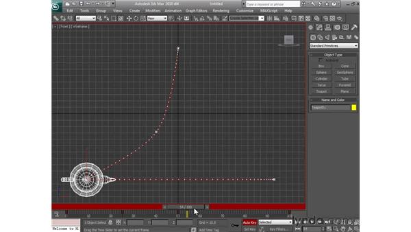 Animating with auto key: 3ds Max 2010 Essential Training