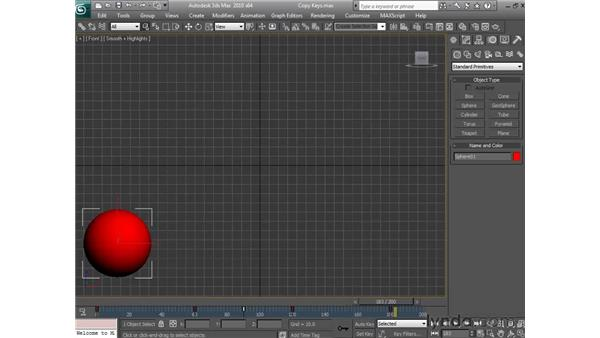 Copying keyframes: 3ds Max 2010 Essential Training