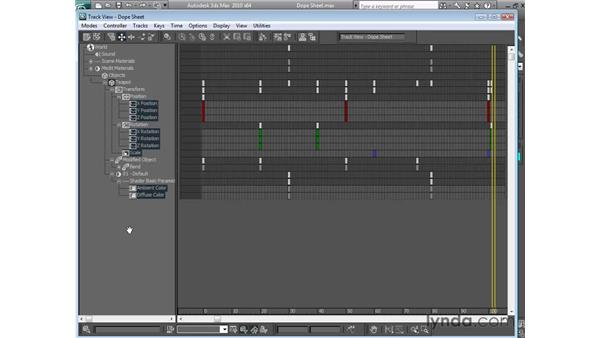 Using the Dope Sheet: 3ds Max 2010 Essential Training