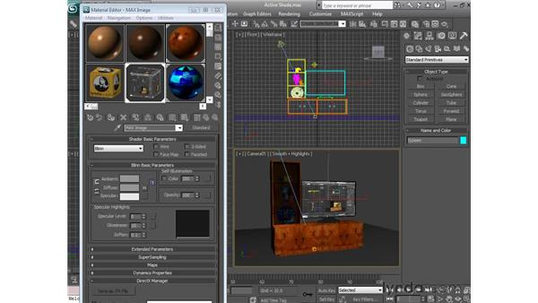 Using active shade: 3ds Max 2010 Essential Training