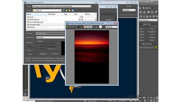 Loading background images: 3ds Max 2010 Essential Training