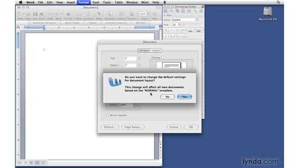 Setting default document options: Office 2008 for Mac: Small Business Projects