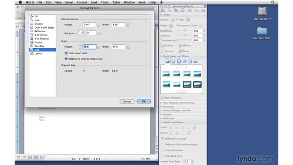 Adding logos: Office 2008 for Mac: Small Business Projects