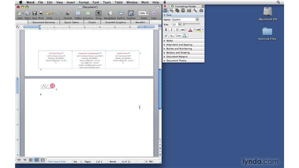 Saving the letterhead template: Office 2008 for Mac: Small Business Projects
