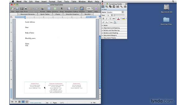 Modifying templates: Office 2008 for Mac: Small Business Projects