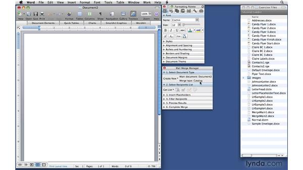 Preparing the main documents: Office 2008 for Mac: Small Business Projects