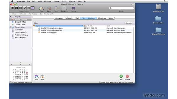 Viewing by project: Office 2008 for Mac: Small Business Projects