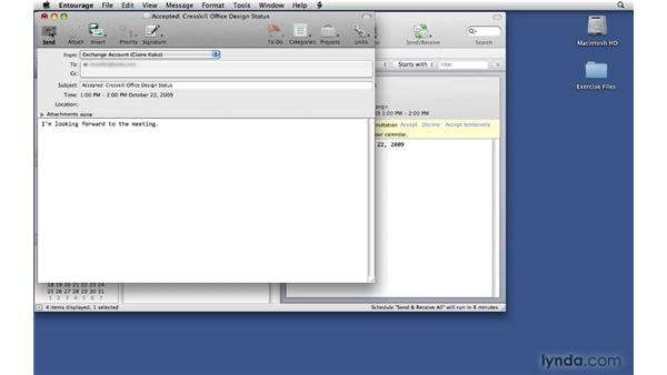 Responding to event invitations: Office 2008 for Mac: Small Business Projects