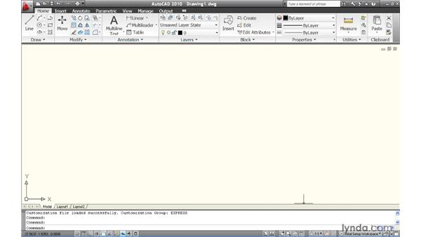 Using Initial Setup to create a customized workspace: AutoCAD 2010 New Features