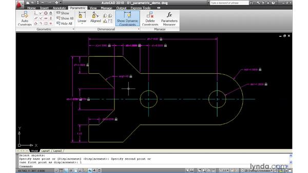 Using parametric constraints to drive geometry: AutoCAD 2010 New Features