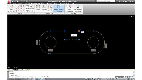 Constraining the geometry of a part: AutoCAD 2010 New Features
