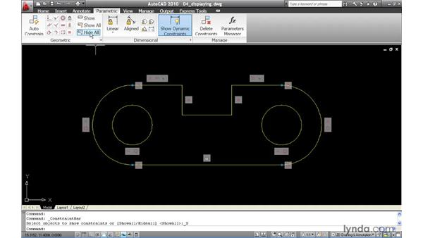 Controlling the display of constraint bars: AutoCAD 2010 New Features