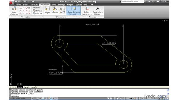 Creating dimensional constraints: AutoCAD 2010 New Features