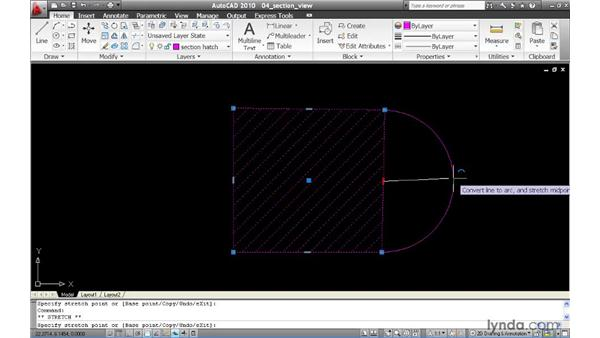 Editing non-associative hatch boundaries dynamically: AutoCAD 2010 New Features