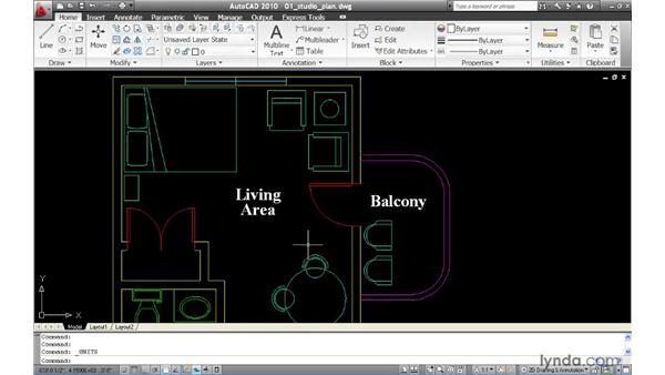 Taking measurements using MEASUREGEOM: AutoCAD 2010 New Features