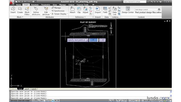 Attaching PDF files as underlays: AutoCAD 2010 New Features