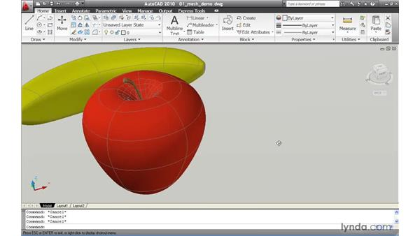 Introducing freeform mesh models: AutoCAD 2010 New Features