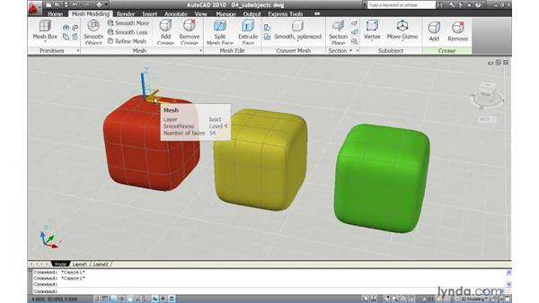 Selecting mesh subobjects: AutoCAD 2010 New Features