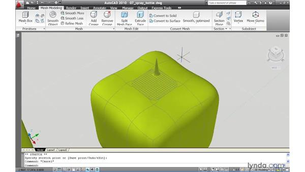 Making fine adjustments by revising mesh tessellation: AutoCAD 2010 New Features