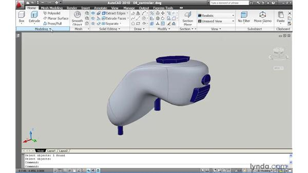 Converting a mesh into a solid: AutoCAD 2010 New Features