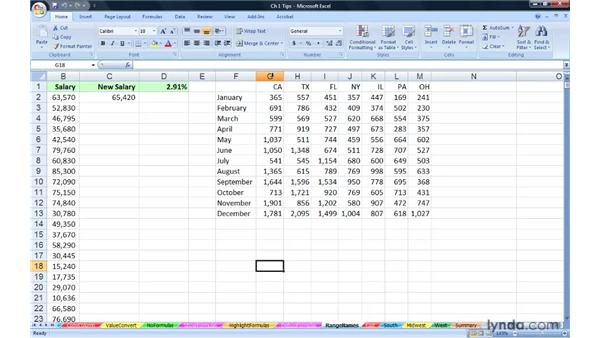 Using the exercise files: Excel 2007: Advanced Formulas and Functions
