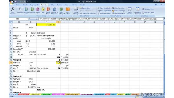 Simplifying debugging formulas: Excel 2007: Advanced Formulas and Functions