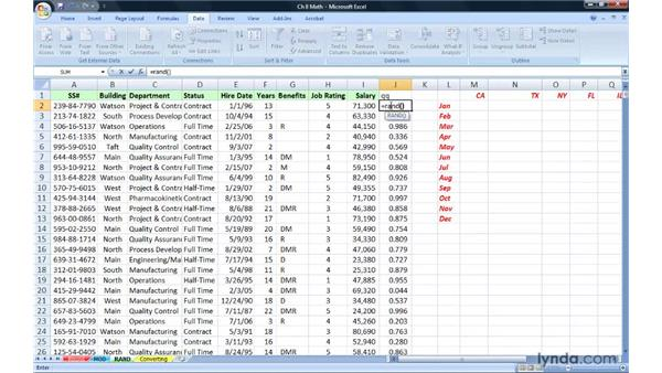 Building random number generators with RAND and RANDBETWEEN: Excel 2007: Advanced Formulas and Functions