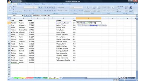 Combining multiple functions in arrays: Excel 2007: Advanced Formulas and Functions