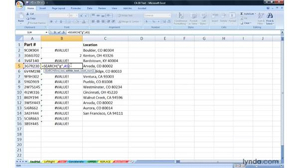 Locating and extracting data with FIND and MID: Excel 2007: Advanced Formulas and Functions