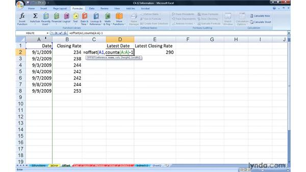 Getting data from remote cells with OFFSET: Excel 2007: Advanced Formulas and Functions