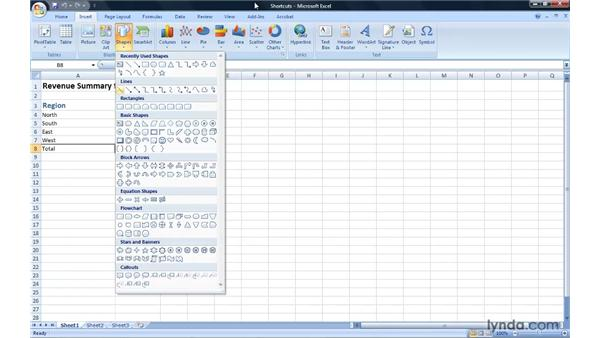 Controlling Excel 2007 using keyboard shortcuts: Migrating from Excel 2003 to Excel 2007